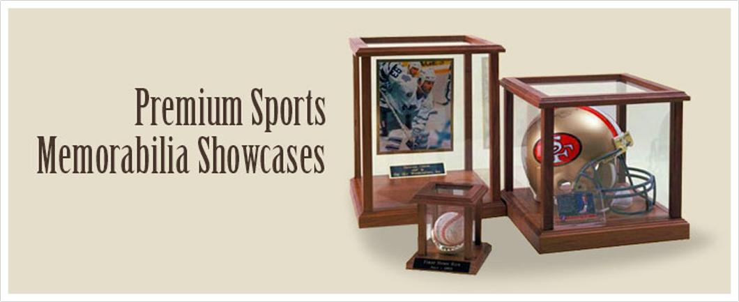 Premium Sports Memorabilia Showcases