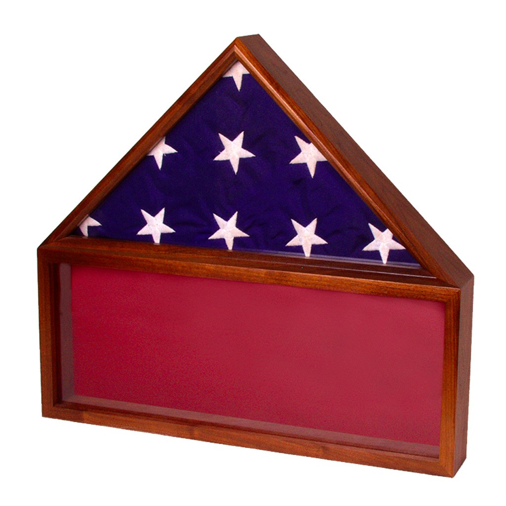 Wooden flag cases from Big Sky Woodcrafters