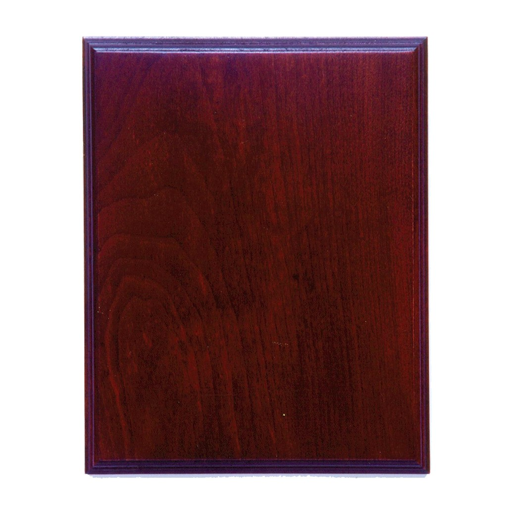 Walnut with Cherry Finish Rectangle Plaque