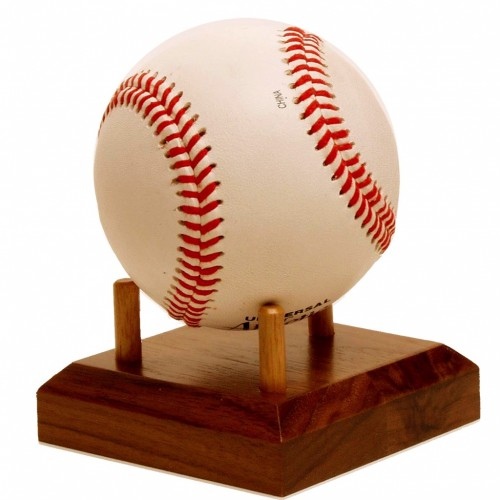 Wooden baseball holder from Big Sky Woodcrafters