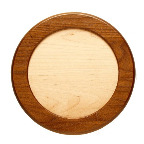 Walnut Framed Circle with Maple Insert