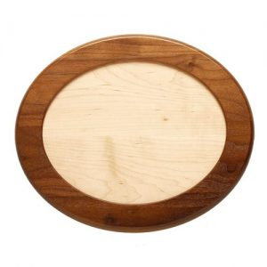 Walnut Framed Oval with Maple Insert