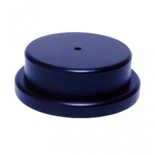 """Round Base, overall thickness 2.25"""" black finish"""