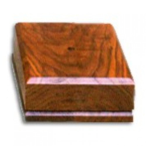 Wooden square base by Big Sky Woodcrafters