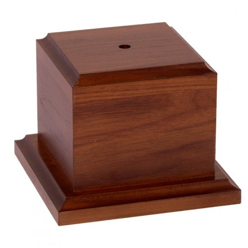 Square Wood Box with Base